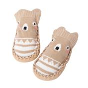 SUKEQ Cartoon Baby Girls Boys Soft Anti-Slip Cotton Socks Slipper Shoes Boots