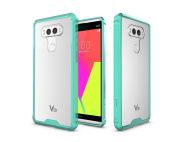 LG V20 Case, ARSUE Ultra Thin and Slim Hard Crystal Clear Transparent Scratch Resistant Premium Hybrid Protective Cover for LG V20 - Mint