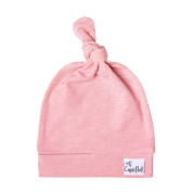 """Stretchy Top Knot Hat Soft Baby Beanie """"Darling"""" by Copper Pearl"""