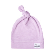 """Stretchy Top Knot Hat Soft Baby Beanie """"Lily"""" by Copper Pearl"""