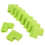 10pcs U-Shape Furniture Table Edge Protectors Foam Baby Safety Bumper Guard-Grass Green