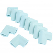 10pcs U-Shape Furniture Table Edge Protectors Foam Baby Safety Bumper Guard-Light Blue