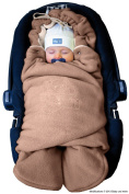 ByBoom - Baby Swaddling Wrap, Car Seat and Pram Blanket for Winter; THE ORIGINAL WITH THE BEAR
