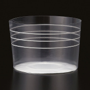 Welcome Home Brands CK801 Clear Stripe Plastic Baking Cup 100ml Volume, 5.6cm Diameter x 4.1cm High - Pack of 100