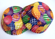 50 count Balloon Multi Colour Cupcake Liners Liner for Standard Size Cupcakes