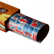 50 Pcs Oilproof Food Paper Baking Paper Parchment Candy Wrapper Hamburger Wax Paper, J
