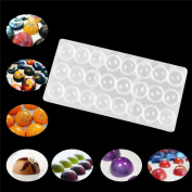 Creazy Clear Hard Chocolate Maker Polycarbonate PC DIY 24 Half Ball Candy Mould Mould