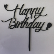 Happy Birthday Cake Topper, Acrylic Party Decoration