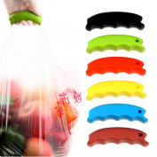 Zehui Cute Colourful Silicon Bag-Carrying Aiding Tool Shopping Reticule Vegetable Fruit Bag Carrying Labour-Saving Tool Hand Protection Silica Gel Dish Lifting Device Colour Random