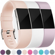 Wepro Fitbit Charge 2 Bands, Replacement for Fitbit Charge 2 HR, Buckle, 15 Colours, Large, Small