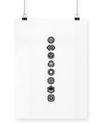 Hippowarehouse Chakras symbols printed poster wall art wall design A4