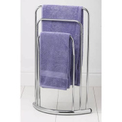 FunkyBuys® FREE STANDING CHROME 3 TIER TOWEL RAIL BOW BAR RACK KITCHEN BATHROOM STORAGE HOLDER