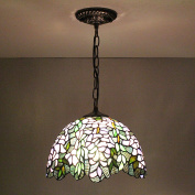 30cm Vintage Pastoral Rustic Stained Glass Tiffany Ceiling Lamp Pendant Lamp Living Room Light Hallway Lamp