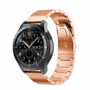 Editor's Choice Memela(TM) For Samsung Gear S3 Frontier Watch, Inspiration Metal Clasp Genuine Stainless Steel Wristwatch Bracelet Strap Belt Replacement
