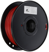 3D Prima TW-FLX300RE TPE Flexible Filament, 3 mm, 1 kg Spool, Red