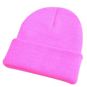 Men Women Winter Elastic Wool Yarn Beanie Knit Ski Cap Fashion Cuff Hat