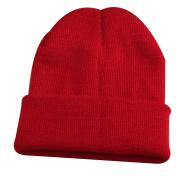 Men Women Winter Elastic Wool Yarn Beanie Knit Ski Cap Fashion Cuff Hat