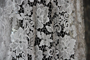 GF13 Pure white upgrade quality Guipure Lace bridal lace 120cm wide-Sold by 0.5 yard fabric