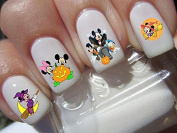Mickey & Minnie Mouse halloween scary disney nail art waterslide decals nail design set #h4