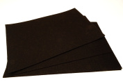 10 x A4 Felt Sheets - Black - Arts & Craft Fabric Material