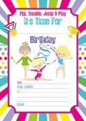 10 x Gymnastics Party Invitations