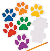 Pack of 12 - Paw Print Notepads - Great Stocking Party Loot Bag Fillers