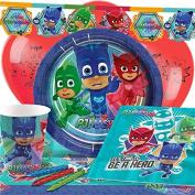 "PJ Masks Party Tableware Children's Birthday Party Kit for 8,16,24,32 - Including "" Happy Birthday "" Wrist Brand"