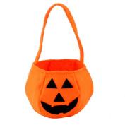 Kanggest Halloween Pumpkin Bag Children Kids Halloween Trick or Treat Bags Girls Tote Candy Handbag Orange