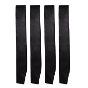 BBTO Black Plain Satin Sash Black DIY Sashes for Wedding, Party, Pageant and Prom, 4 Packs