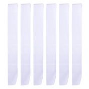 BBTO 6 Pieces Blank Satin Sash Plain Sashes for DIY, Wedding, Hen Party, Beauty Pageant, White