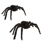 HAPPYQUDA Large Black Spider Halloween Decoration Haunted House Prop Indoor Outdoor Wide 30/75/125cm