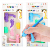 Sansee 6PCS/Set Children Pencil Holder Pen Writing Aid Grip Finger-protected Posture Correction Tools New For Correcting Children's Handwriting