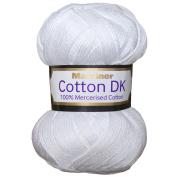 Marriner Mercerised 100% Cotton Double Knit | DK Yarn/Cotton | White