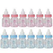 L-FENG-UK A Pack of 12 Baby Shower Party Favours Decoration Candy Filling Bottles