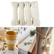 Natural Cotton Cord Bohemia Macrame Rope DIY Macrame Wall Hanging Plant Hanger Craft String Knitting Handmade Decorations,6mm/50M