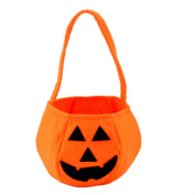 VWH Halloween Pumpkin Bag Candy Handbag Buckets Holder Cookies Craft Treat Bags For Kid Child