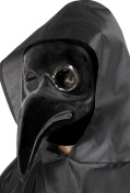 Smiffy's 48317 Authentic Plague Doctor Mask, Black, One Size
