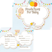 Baby Shower Prediction Cards 16 Guests Baby Design Game Activities .