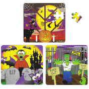 12 Kids Halloween Jigsaw Puzzles Fun Game Toy Play Activity Puzzle 25 Pieces