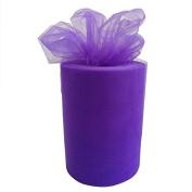 TtS 15cm x 100 yards(90m) (Lilac) Tulle Roll Spool Tutu Party Birthday Wraping Crafts Bridal Bow Skirt Wedding Decor