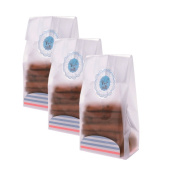 Syndecho 50pcs Resealable Flat Clear Cello Cellophane Treat Bags with Card Tray and Cute Stickers