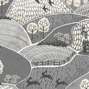 Fat Quarter Makower - Into The Woods - Landscape Grey