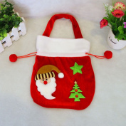 LUFA Santa Claus & Snowman Gift Bag Christmas Handbag High-grade Gold Velvet Gift Bag Candy Handbag