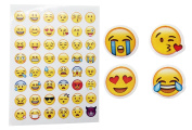 Emoji Paper Stickers Removable Different Happy Faces Kids DIY Stickers 1200PCS 25 Sheets Funny Custom Emoji Sticker For Kids & Adults Tablet Decoration Cupcake Toppers Decorations