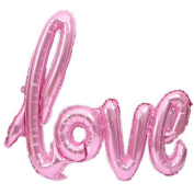 JuneJour Helium Foil Letter Balloons Reusable Love Letters Balloons for Christmas Engagement Birthday Valentine Wedding Celebration Party Decoration Pink