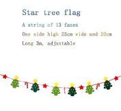 Christmas ornament hanging flag Christmas decoration supplies flag / mall shop hanging arrangement Christmas tree flag
