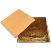 Chinget 100 Sheets Imitation Gold Colour Leaf Foil Paper Art Craft Packaging Paper 15x15cm