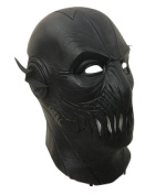 UK Halloween Carnival Cosplay Black Latex Cosplay Full Head Helmet Mask - Universal Size Zoom Zoomer Flash