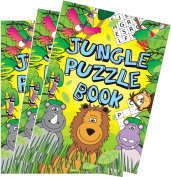 10 Jungle Puzzle Books (A6) Glossy Cover Party Bag Fillers