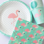 Sass & Belle Summer Tropical Flamingo PlatesNapkinsCups. Tableware Party Pack